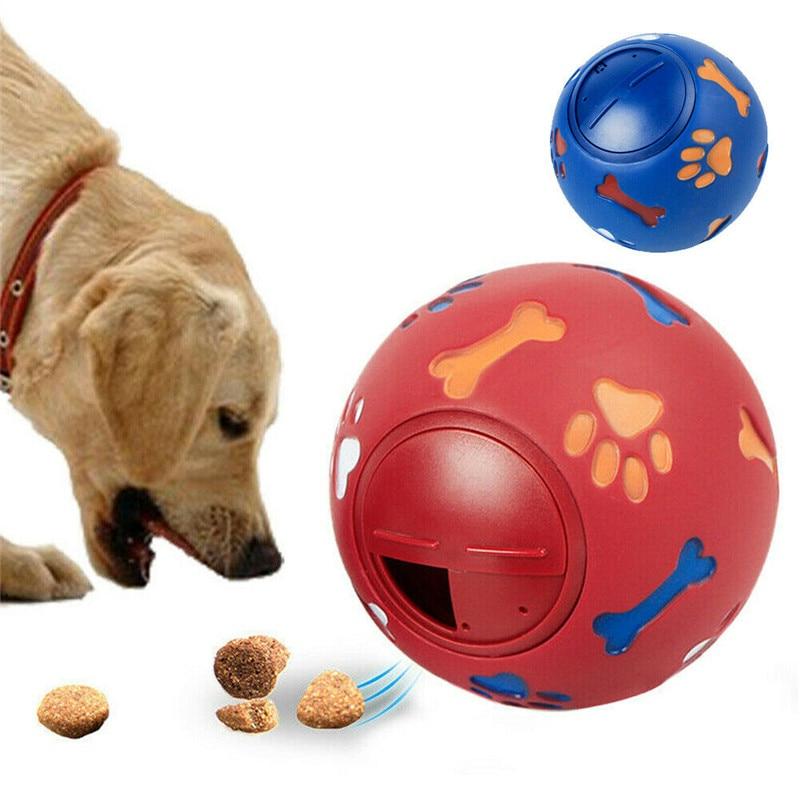 Pet Dog Interactive Toy Treat Ball Training Bounceball Cat Rubber