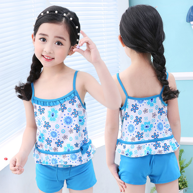 look for best value release date: US $6.93 30% OFF|Girls Swimsuits Two Pieces Swim Clothing Cute Baby  Children Swimwear Shorts Kids Bathing Suits Beach Wear maillot de bain  femme-in ...