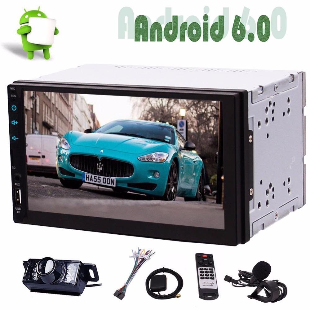 """7/"""" 2Din Auto Car Media Player GPS Navigation Bluetooth Mirror Link Android 6.0.1"""