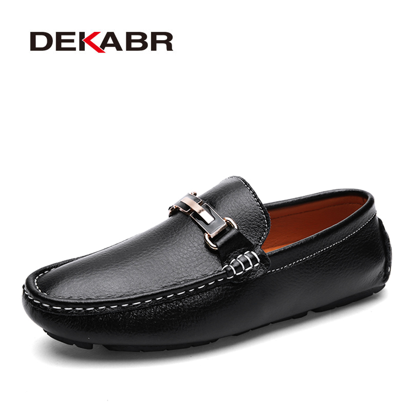 DEKABR Fashion Brand Men Shoes Luxury Men Pu Leather Shoes Casual Men Shoes Male Quality Flats Slip On Loafers Plus size 38~47 цена 2017
