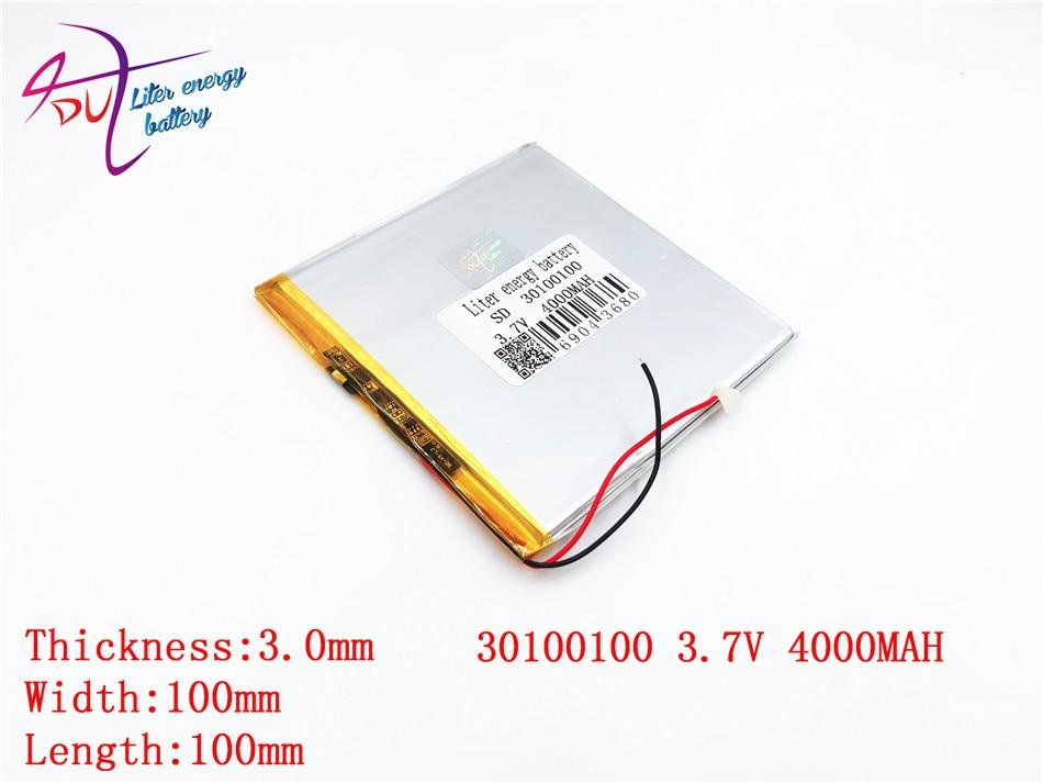 Best Battery Brand 3.7V Lithium Polymer Battery 30100100 4000MAH Mobile Power DIY Tablet Computer 30101100
