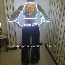 Горячая мода светодиод мигает светящиеся пикантные женская обувь костюм Одежда для танцев для Для женщин LED Костюмы с Беспроводной Управление