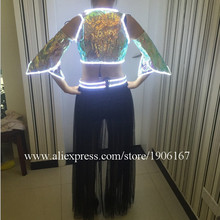 Hot Fashion Led Flashing Luminous Light Up Sexy Lady Dress Suit Costume Dance Wear For Women LED Clothing With Wireless Control