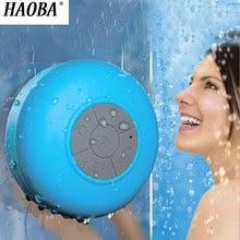 HAOBA Wireless Bluetooth Speakers Waterproof Shower Bathroom Sucker Music Player With For Portable Loudspeaker