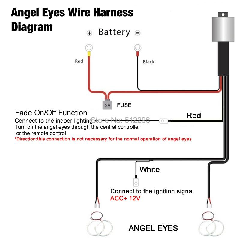 Led Light Bar Wiring Diagram With Relay Rs232 Db9 Harness Function Manual E Books Feeldo 1pc Kit For Bmw Ccfl Angel Eyesfeeldo Eyes Fade Am4758 In