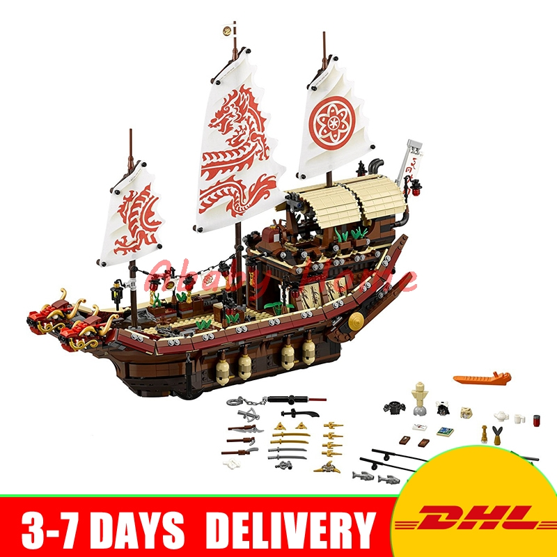 DHL In Stock LEPIN Ninja 06057 Final Fight of Destiny's Bounty anime action figures Building Block Bricks Toys Clone 70618 dhl in stock lepin 06057 2455pcs ninja final fight of destiny s bounty ship building blocks bricks set diy toys fit for 70618