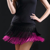 2017 Hot Sale Adult Lady Dance Dance Skirt Women S Double Tassel Latin Dance Skirt Fringed