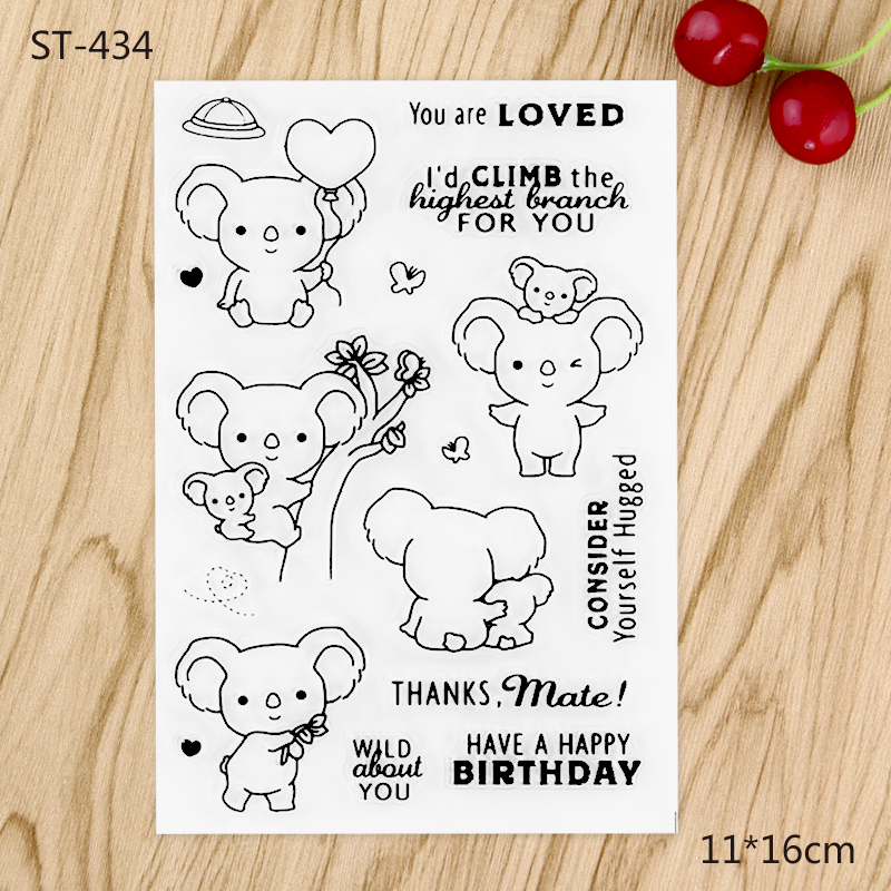 Koalas  Stamp for DIY Scrapbooking/photo Album Decorative Craft Clear Stamp Chapter angel and trees clear stamp variety of styles clear stamp for diy scrapbooking photo album wedding gift cl 163