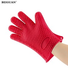 Heat Resistant Silicone Glove Cooking BBQ Oven Pot Holder Mitt Kitchen Hot Search kitchen accessories bakewear tool