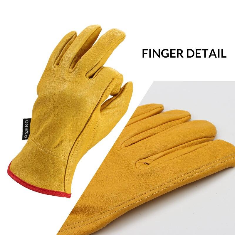 Motorcycle Gloves Leather Genuine Cowhide Motocross Motorbike Biker Racing Ridin
