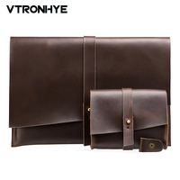 VTRONHYE Vintage Genuine Leather Cover Case For MacBook Air 11 6 13 3 Inch Luxury Protective