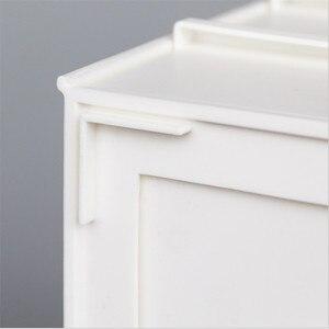 Image 3 - プラスチック化粧オーガナイザー二層ジュエリーボックス化粧品オーガナイザー化粧箱口紅メイク収納浴室テーブルの主催者
