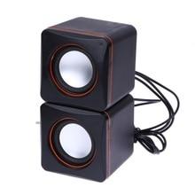 2017 USB 3.5mm Audio Speaker Adapter Stereo Mini PC Speaker Subwoofer For Desktop Laptop Notebook Tablet Cell Phone