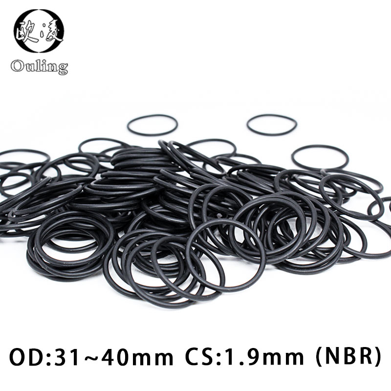 uxcell 10 Pcs 100mm Outside Diameter 2mm Thickness Rubber O Rings Seals Black