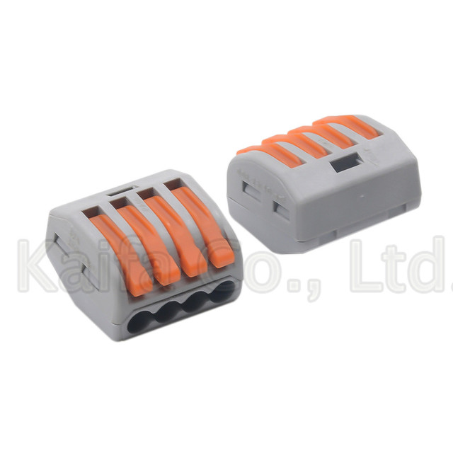 WAGO  Type 222-412 222-413 222-415 Compact Wire Wiring Connector Conductor Terminal Block With Lever 0.08-2.5mm2 214 218 SPL-2 3