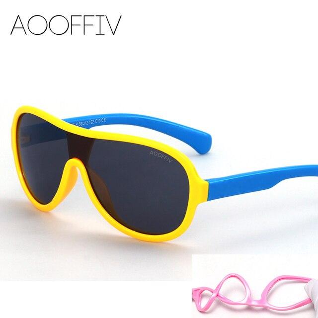 1c1ae73879 AOOFFIV Care UV Gafas Polarizadas gafas de Sol de Los Niños Del Niño Del  Bebé de