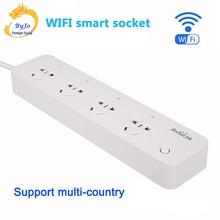 BroadLink toma de corriente inteligente MP1, control por separado, WiFi, toma inteligente, 4 tomas de potencia de salida para Automatización Inteligente
