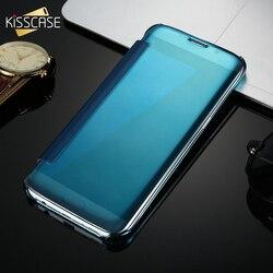 KISSCASE Miroir En Plastique étui pour samsung Galaxy A5 2016 A3 A7 2015 J3 J5 J7 2017 Note 4 5 S8 Plus S7 S6 Bord S5 C5 C7 Housse