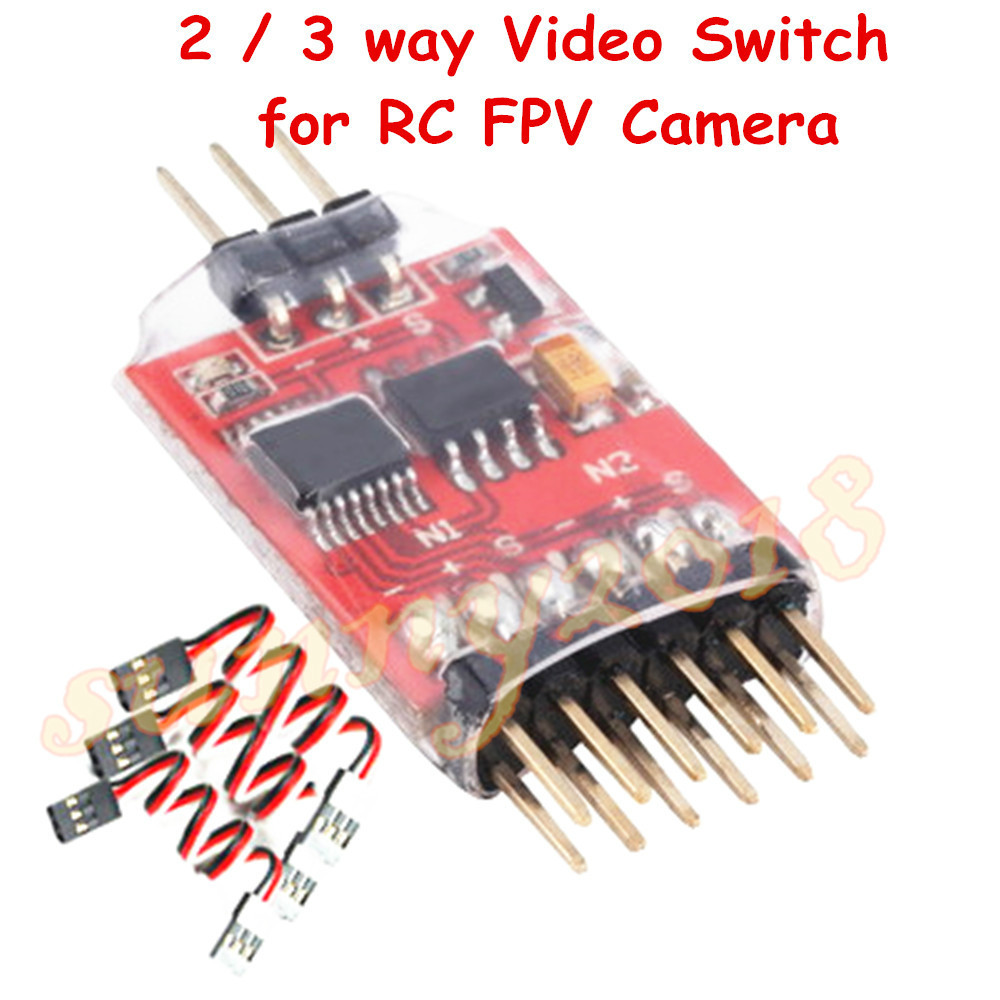 RC FPV Camera 3 Channel Video Switchover Module 2 / 3 way Vide switch / Electronic ignition switch goolrc 5 8g 3 channel video switcher module 3 way video switch unit for fpv camera