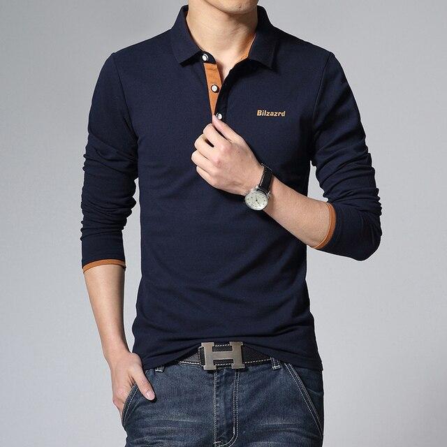 М-3XL Белый Черный Серый Синий поло мужчины весна осень твердых рубашки поло бренды 2015 мужская поло homme