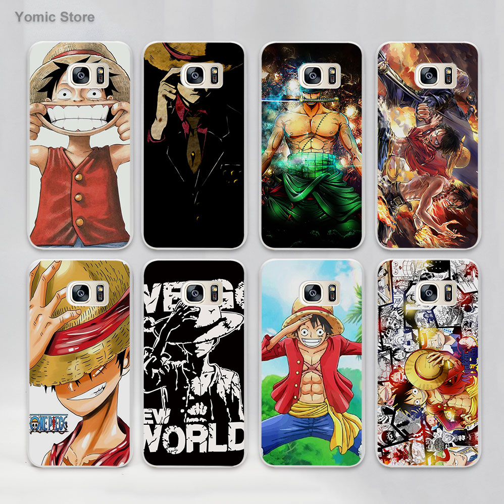 One piece monkey d luffy ace zoro hard White Case Cover for Samsung Galaxy s7 s6 edge s4 s5 mini note 5 note4