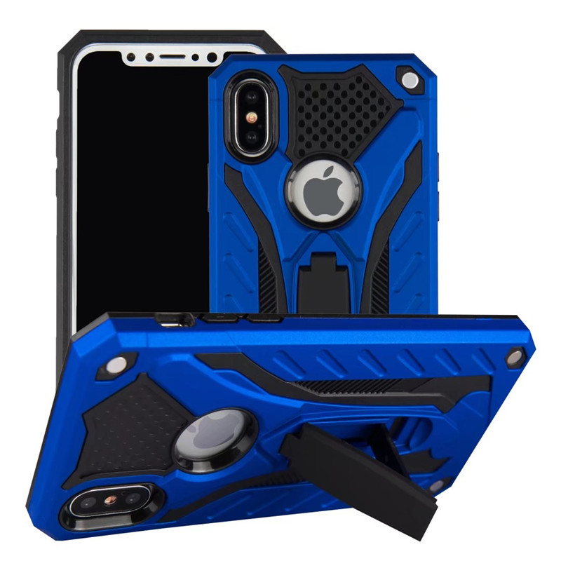 Shockproof Rubber Armor Kickstand Case For iPhone X XS Max XS PC TPU Dual Protective Phone Cover For iPhone XR X 10 Holder Coque iPhone XS