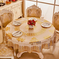 180cm PVC round tablecloth, High quality banquet hot stamping tablecloth.Waterproof and oil resistant PVC tablecloth
