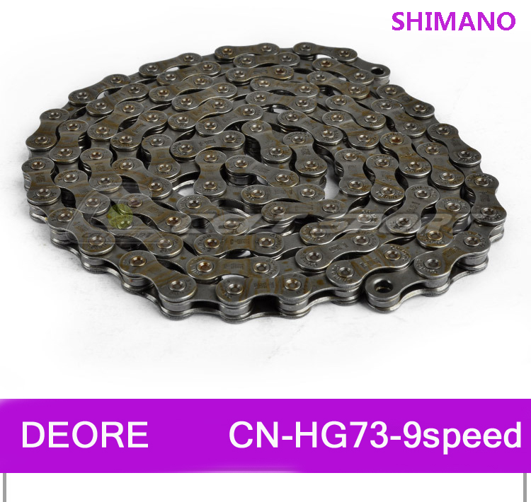 SHIMANO DEORE MTB Mountain Bike HG73-9 9 Speed 116 Link Bicycle Chain Durable Use Stretch Protection