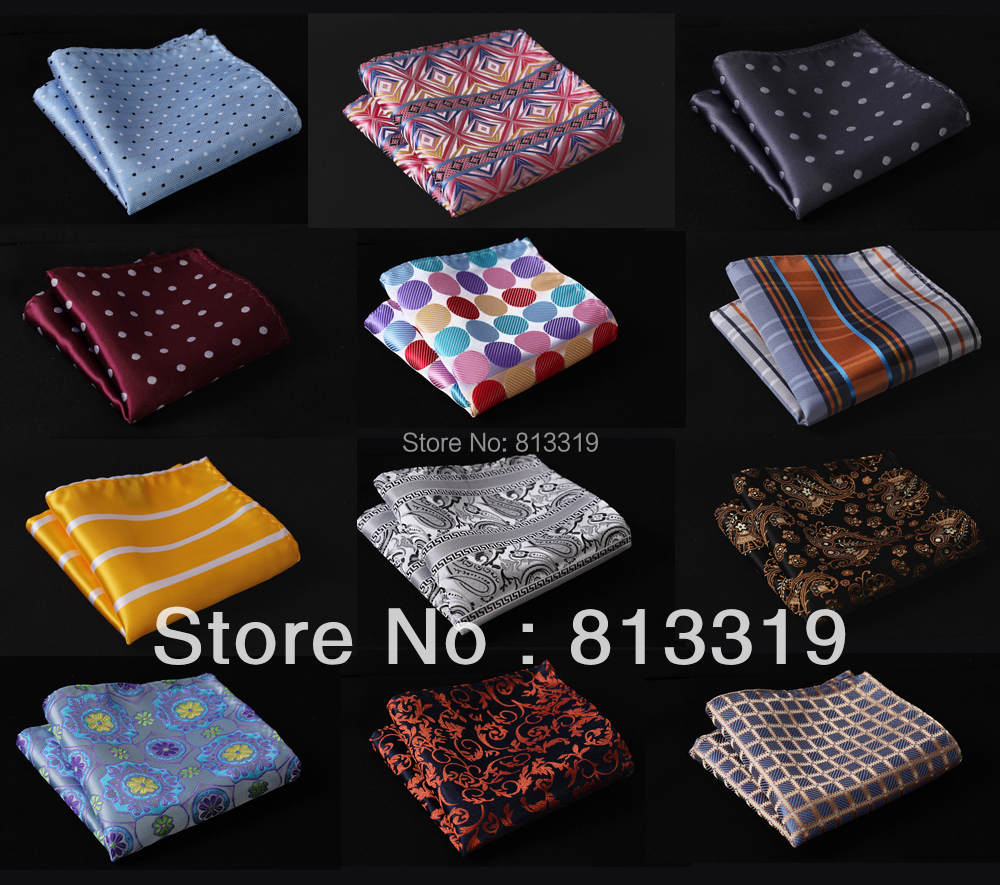 M1 Men Silk Satin Handkerchief Pocket Square Hanky Multi Colors Wedding Party