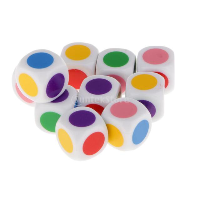 Kinder Bord Spiel Würfel 6 Farben Würfel Tabelle Spiele kinder ...