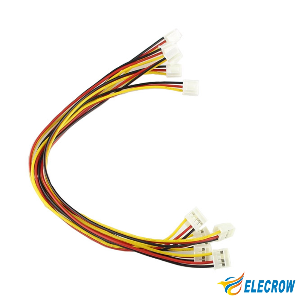 Elecrow 5pcs/pack Crowtail Compatible Cable to Grove Convertor 3Pin to 4Pin Cable Wire DIY Kit