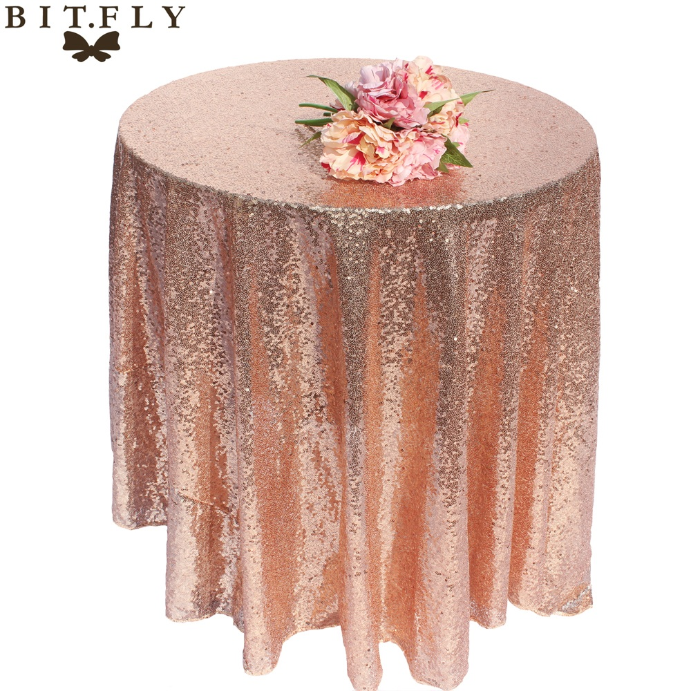 1PC Sparkly Glitter Sequin Round Tablecloth Table Cloth Cover For Wedding Party Banquet Christmas Xmas Table Home Decorations in Party DIY Decorations from Home Garden