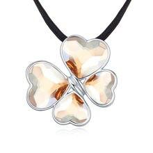Новый Дизайн Любовь Сердце ожерелья в форме клевера и подвески