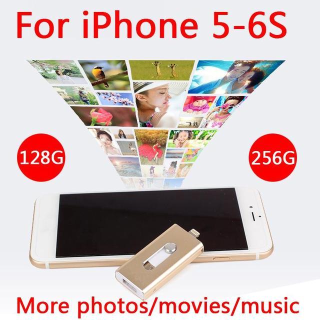 1 unids/lote Buena Calidad Pen Drive 8 GB 16 GB 32 GB 64 GB OTG USB Flash micro usb del palillo de pendrive para iphone 5 5s 6 s regalo equipo