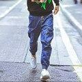 Nuevo estilo 2015 fresco joggers hombres pantalones de haren denning pantalón largo moda hip hop hombres pantalones desgaste