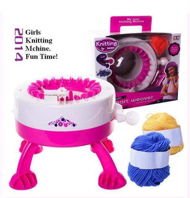 Girls weaver dreams Intelligence singer knitting machine ...