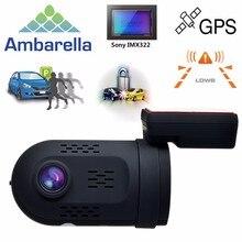 Mini 0807 Ambarella A7LA50 1080P 135 Degree GPS Capacitor Car DVR DashCam Dual Memory Solt OBD Park Guard Free Shipping!