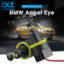 цена на DXZ 2PCS for BMW Angel Eyes Cree Chips LED 2x40 W H8 BMW E60 E61 E63 E64 E70 X5 X6 E71 E82 E87 E89 E90 E91 E92 M3