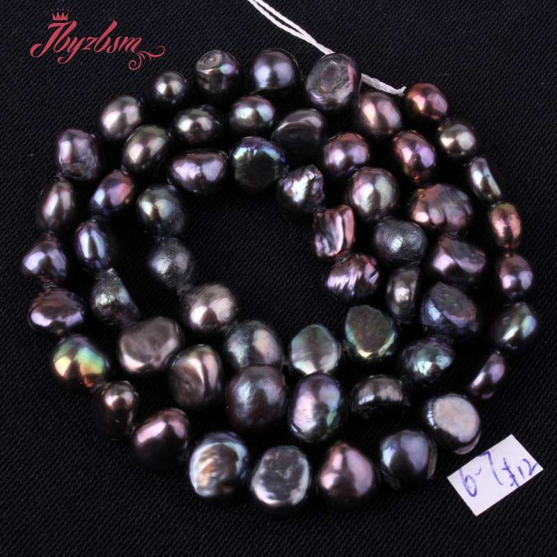 6f50ee5a83dc7 best top freshwater aaa black pearls strands brands and get free ...