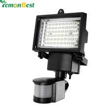 buy Motion Sensor LED Solar Garden Light 60 LEDs Outdoor Lighting PIR Body Solar Power Panel Lamp for Square Highway Outdoor Wall,image LED lamps deals