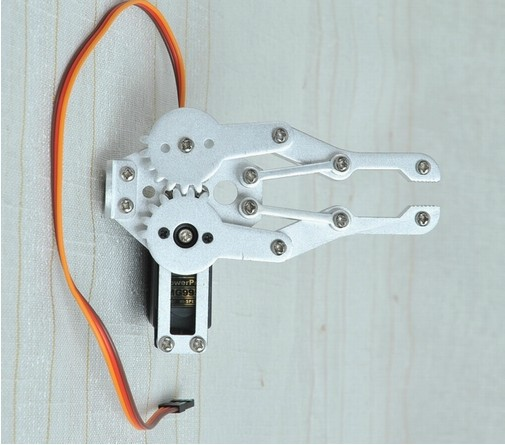 DIY Aluminium Robot Paw  Clamp Gripper Mount kit With One MG995 Servo for Robot Arduino robot parts robot grips department of class double action clamp outlet clamp 1615d