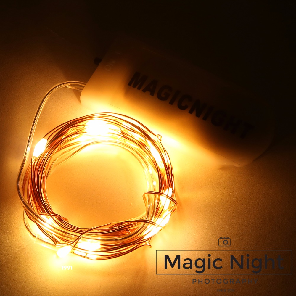 Magicnight 20 Warm White Color Micro LED String Lights on 7 Feet Extra Thin Copper Wire for DIY ...