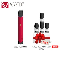NEW Arrival Electronic cigarette 260mAh Vaptio SOLO FLAT MINI KIT 12W Portable Vape Kit 260mAh Battery 1.0ml Vaporizer PEN