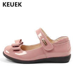 NEW Spring/Autumn Flats Children Shoes Kids Black Performance Dress Shoes Student  Patent Leather Baby Toddler Girls Shoes 041