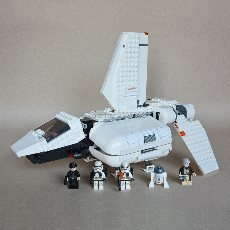 compatible legoeinglys Star Wars Imperial Landing Craft set 712pcs Obi-Wan,R2-D2 Sandtrooper Building blocks brick Toys for kids star wars obi wan and anakin