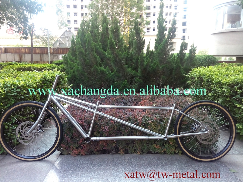 US $3399 0 |titanium tandem bike frame titanium S&S coupler bike frame  titanium tandem mtb bike frame 27 5-in Bicycle Frame from Sports &