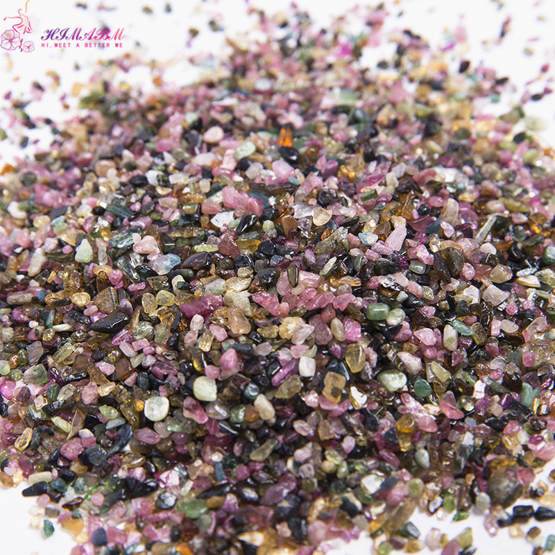 HIMABM 1 pack=100g of 2-4 mm tourmaline stone mixed color DIY nail art decoration 1 pack 100