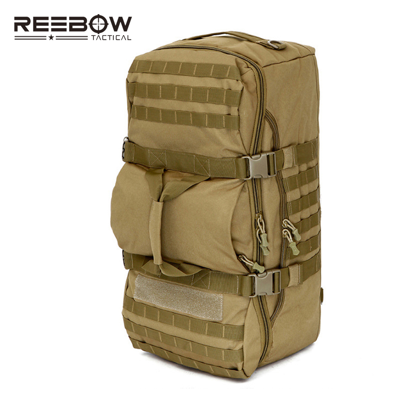 60L Big Capacity Mil-spec Nylon Hand Backpack Men Women Outdoor MOLLE Travel Duffle Luggage Bag Sports Camping Hunting Training 983 7s14 15sn l [ circular mil spec connectors 983 15c 15 20 skt r ecp] mr li