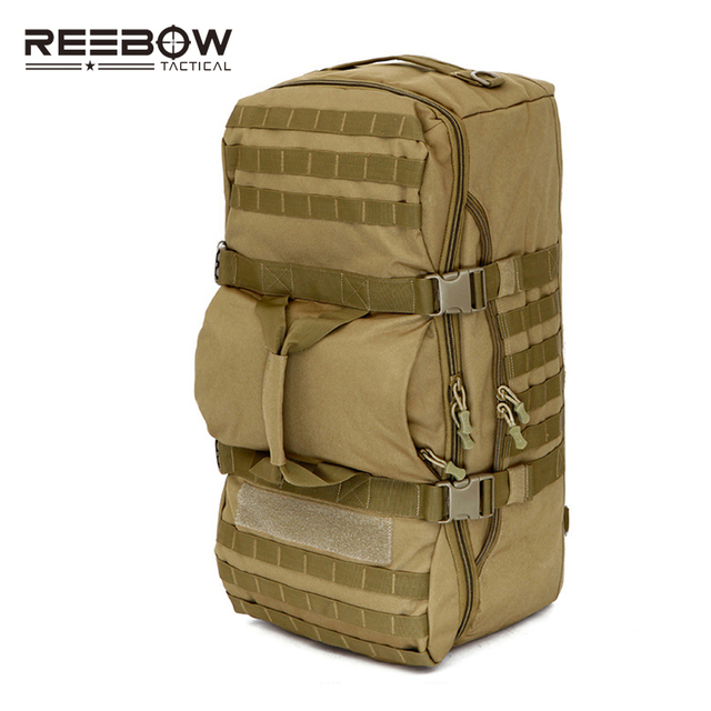 60l Capacity Mil Spec Nylon Hand Backpack Men Women Outdoor Molle Travel Duffle Luggage