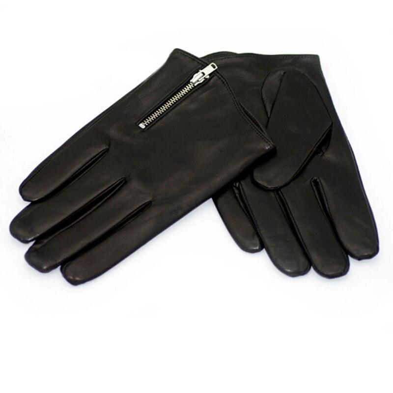 0b5d10fe7db850 Winter Herren Lederhandschuhe Mode Mann Ziegenleder Handschuhe Echte  Italien Leder Handschuhe Reißverschluss Stil Kühlen Handschuh A MJK0703 in  Winter ...